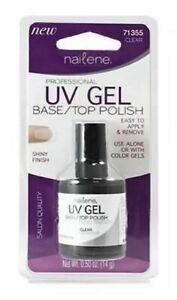 UV Gel Nailene Base Coat / Top Coat Polish Clear Easy Apply New Salon Quality
