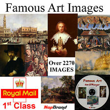 Famous Art Painting Images CD over 2270 Van Gogh, rembrandt, renoir.constable ++