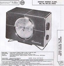 1956 Service Photofact Manual CROSLEY JC-6BK BN TN WE Ch R103 Radio, EXC COND'N