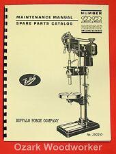BUFFALO No. 22 Drill Press Operator & Parts Manual 0106