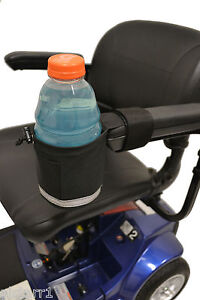 Diestco Nonbreakable Cup holder A1328 for Power Wheel Chairs  Front Mount Grip