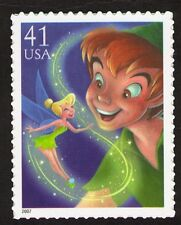 US. 4193. 41c. Peter Pan and Tinker Bell. The Art of Disney: Magic. MNH. 2007
