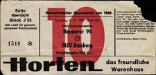 Ticket II. BL 83/84 Hannover 96 - MSV Duisburg, 04.12.1983