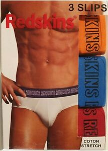 Redskins lot de 3 Slips Homme Coton Stretch Noir