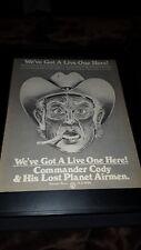 Commander Cody & His Lost Planet Airmen Rare Original Promo Poster Ad Framed!