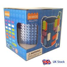 Building brick mug inc. 20 bricks - BLUE