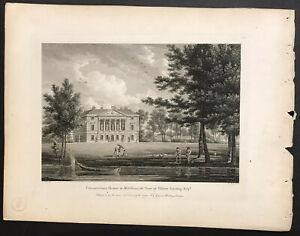English Country Houses Lot Of 60 Late 18th Century Antique Engravings