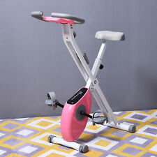 Foldable Exercise Bike with Adjustable Resistance and Tablet