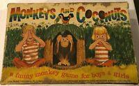 Vintage Monkeys and Coconuts Board Game in Original Box - 1965 Schaper