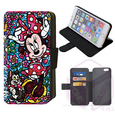 STAINED GLASS MINNIE MOUSE Flip Phone Case iPhone 4/5/6/7/8/X/XS/XR/11 Galaxy