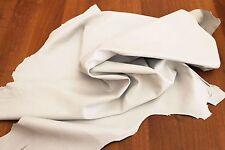 Italian soft Lambskin leather skin hide skins hides SNOW WHITE 4sqf