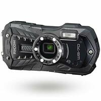 RICOH Waterproof Shockproof Digital Camera WG-70 Black EMS w/ Tracking NEW