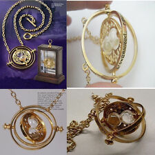 N28 Harry Potter Time Turner Necklace Hermione Granger Rotating Hourglass