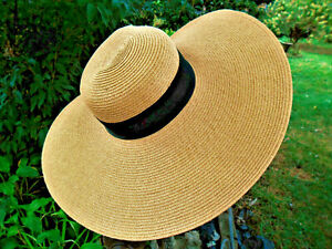 SAN DIEGO HAT COMPANY WOMENS FLOPPY SUN HAT ONE SIZE NATURAL WITH BLACK BAND
