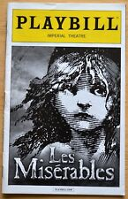 Les Miserables Playbill ~ Imperial Theatre ~ NYC ~ July 2015