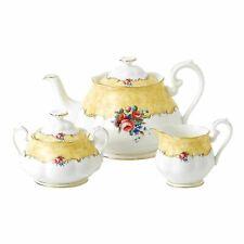 Royal Albert 100 Years 1990 Bouquet 3 Piece Tea Set