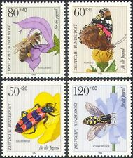 Germany 1984 Welfare/Butterflies/Bee/Beetle/Fly/Insects/Nature 4v set (b3318)