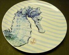 "Home Item -6"" SeaHorse Stoneware Plate - Decorative. -Usable - BELOW WHOLESALE"