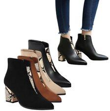 44/49 женские насосы лодыжки ботинки дамы застегивать Челси заостренным носком обувь зимняя D