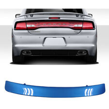 Painted Surf Blue Pearl For 11-19 Dodge Charger SRT Style Rear Trunk ABS Spoiler