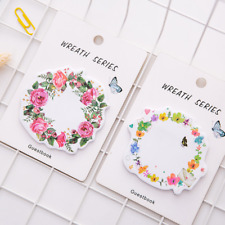 Random Cute Wreath Sticky Notes Diary Adhesive Note Stickers Stickers Memo Pad