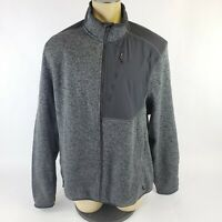 Champion C9 EUC Full Zip Black Gray Jacket Sweater Long Sleeve Men's Size XXL