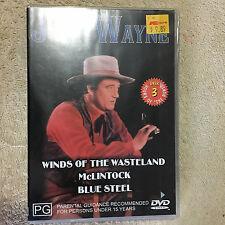 JOHN WAYNE DVD - Winds of the Wasteland, McLintock, Blue Steel _NEW.     (0977)