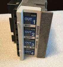 Lot of 3 Gould Modicon Output Module, B552, 10 - 48 DC, USED,