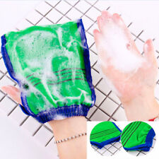Exfoliating Body Scrub Gloves Shower Bath Mitt Loofah Skin Massage Sponge Spa