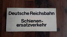 Deutsche Reichsbahn original Schild SEV Pertinax lackiert BVB Kraftverkehr