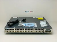 CISCO WS-C3750X-48T-S • 48 Port Gigabit Switch ■ COMES WITH C3KX-NM-10G ■