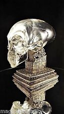 CRYSTAL CLEAR RESIN MINI REPLICA ALIEN SKULL + STAND INDIANA JONES PROP GIFT