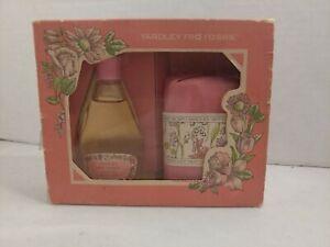 YARDLEY RED ROSES SOAP BAR and bottle of cologne .85 FL oz -  VINTAGE NOS