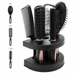 Hair Brush Massage Comb Bristle Styling Soft Massager Salon Tool Mirror Holder