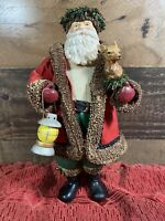 Midwest Importers of Cannon Falls Paper Mache Santa Deer Figurine