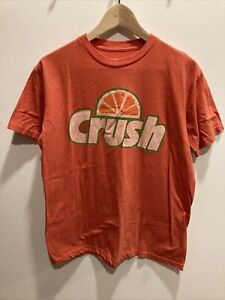 Mens Orange Crush Tshirt-Size M-Worn Style-Nice & Fun-Main Color Orange