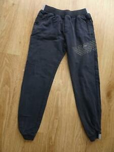 ARMANI JUNIOR boys navy tracksuit trousers joggers AGE 12 YEARS 12A
