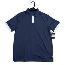Nike Golf Men's Medium Dri-fit Vapor Polo Shirt AT8890-015 Navy Blue Size M NEW