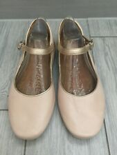 LADIES PALE PINK CLARKS ARTISAN LEATHER Mary Jane FLATS, UK 6