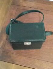 RETRO VINTAGE BLACK HARD LEATHER POLAROID CARRYING CASE BAG & STRAP