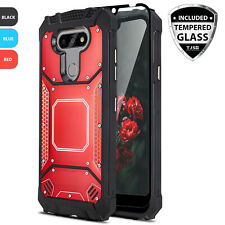 For LG Aristo 5/Phoenix 5 Metal Case Cover Magnetic Aluminum +Tempered Glass