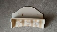 Wooden Wall Hanging 3 hooks with shelf for nursery - Beige