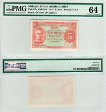 Malaya / British Administration 5 Cents P7b (1941) TDLR PMG 64