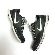Nike Women's Training Black White Athletic Running Lace Up Sneakers Shoes 8.5