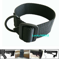 Tactical Single One Point w D Ring Rifle Shotgun Pistol Sling Strap For .22 15