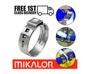 Mikalor Single Ear Plus O Clips 304 Stainless Steel Air Water Pipe Hose Clamps