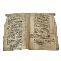 1700's Handwritten Post Medieval Multi-Page Manuscript Document Old Ink & Paper