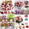 Artificial Bouquet Silk Flowers Blossom Rose Peony Home Wedding Party Decors LTT
