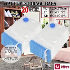 20 X Vacuum Storage Bags Saver Seal Compressing Medium Large Jumbo Supersize TT