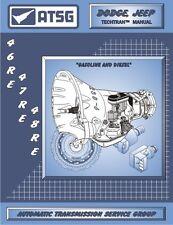Dodge Jeep 46RE 47RE 48RE ATSG Repair Rebuild Transmission Manual Guide Book